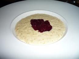 A better looking version of school dinner rice pudding! Image from palattable.blogspot.com