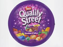 As Quality Street tubs appear today.