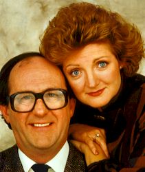 The stars of the show Anton Rodgers and Julia McKenzie