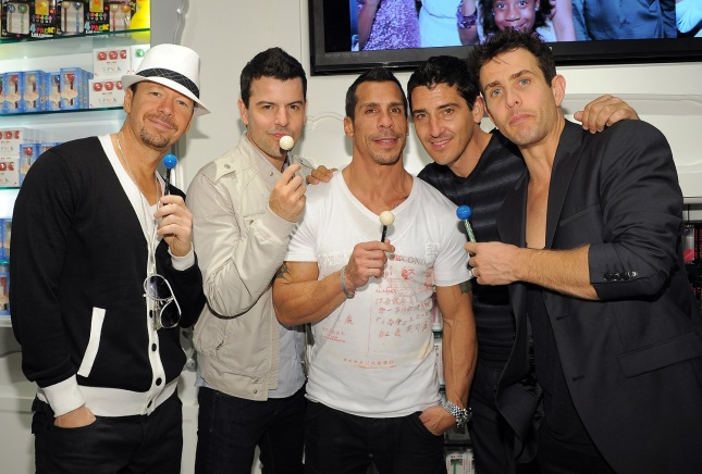 New Kids On The Block And Backstreet Boys Shop At Sugar Factory At Paris Las Vegas