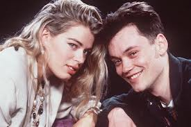 Amanda De Cadenet with her co-presenter, Terry Christian