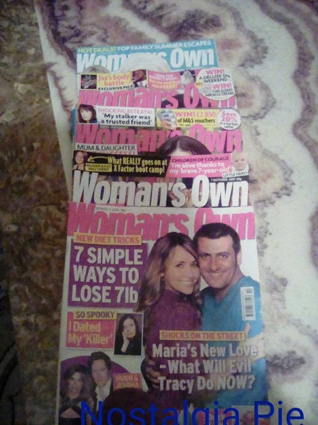 More recent issues of Woman's Own from within the last ten years